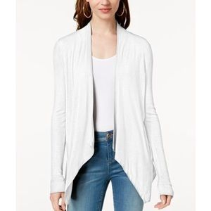 I.N.C. draped cardigan in white